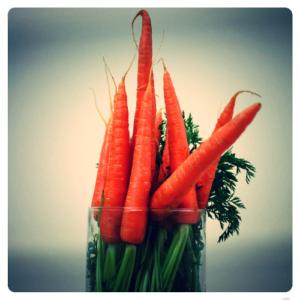 konijnenspreekuur met wortel boeket